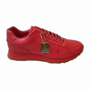 Sneakers Louis Vuitton Homme : baskets homme louis vuitton baskets cuir rouge ~ Nature-et-papiers.com Idées de Décoration