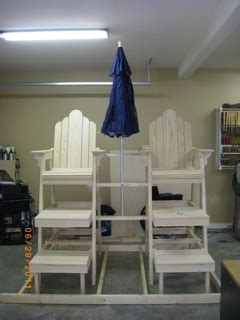 lifeguard chairs woodworking blog  plans