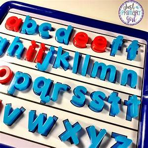 word work in the primary classroom just a primary girl With magnetic board with alphabet letters