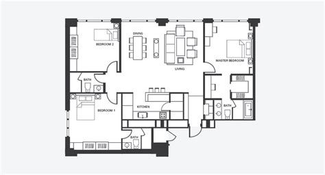 find floor plans three bedroom serviced apartment fraser place central seoul
