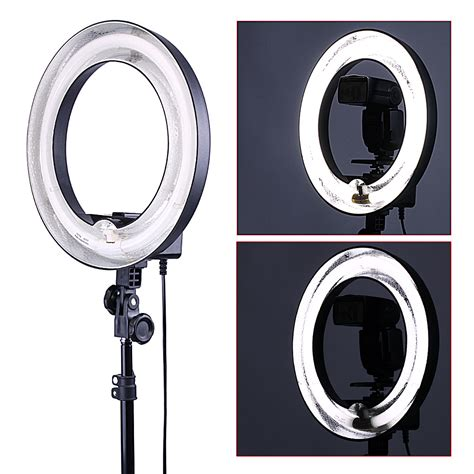 ring light for video neewer 400w 5500k dimmable ring fluorescent flash light ebay