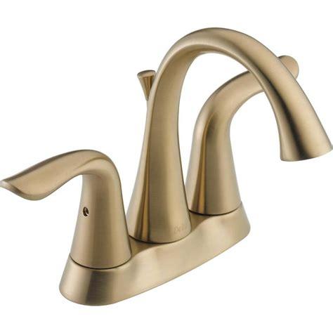 Delta Lahara Faucet Bronze by Shop Delta Lahara Chagne Bronze 2 Handle 4 In Centerset