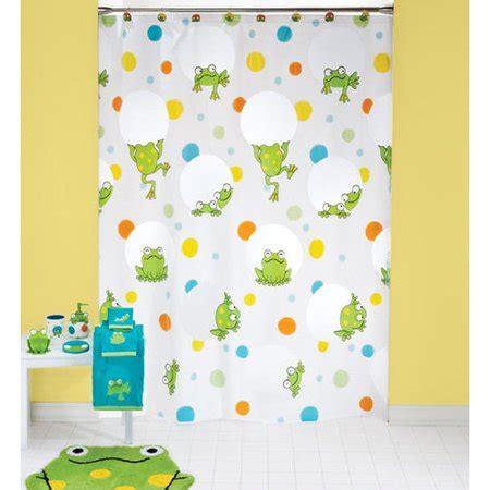 frog shower curtain peeking frogs vinyl shower curtain walmart
