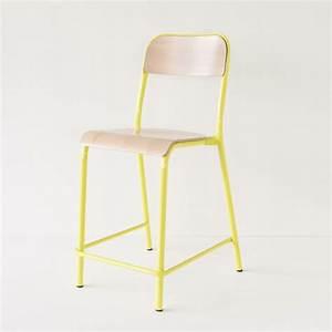 Chaise D école : chaise d 39 cole jaune rehauss e ~ Teatrodelosmanantiales.com Idées de Décoration