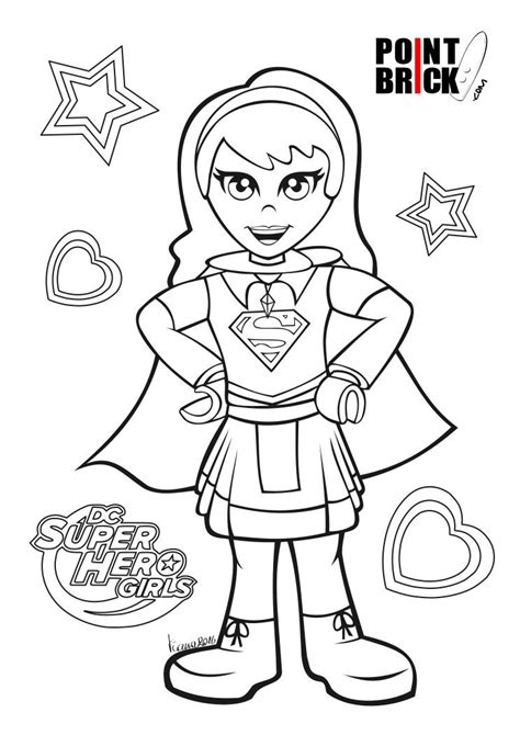Disegni da Colorare LEGO DC Comics Superhero Girls ...