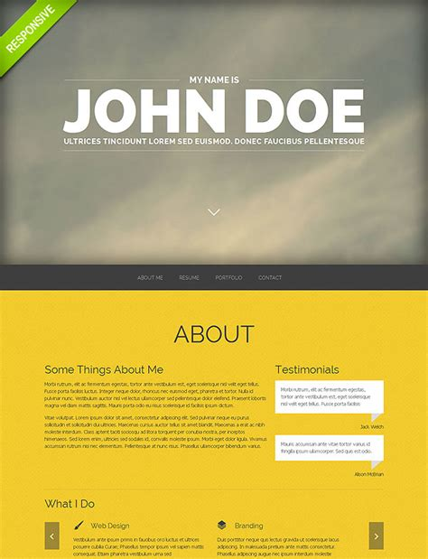 professional portfolio template 20 one page responsive templates with parallax effect only 19 mightydeals