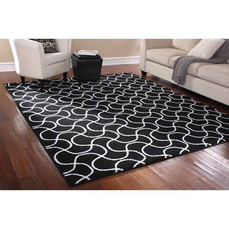 Rug In A Bag by Mainstays Rug In A Bag Drizzle Area Rug Black White