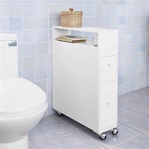 Petit Meuble A Roulette : daliux petit meuble pour wc inspirations avec meuble de rangement toilettes des photos alfarami ~ Teatrodelosmanantiales.com Idées de Décoration
