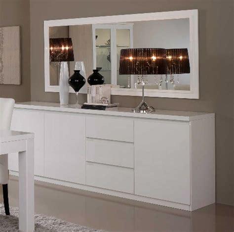 accessoires cuisine design bahut 3 portes 3 tiroirs roma laqué blanc