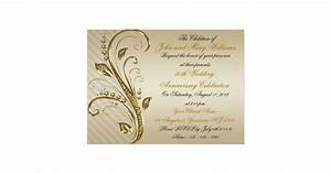 50th wedding anniversary invitation card zazzle With 50th wedding anniversary invitation