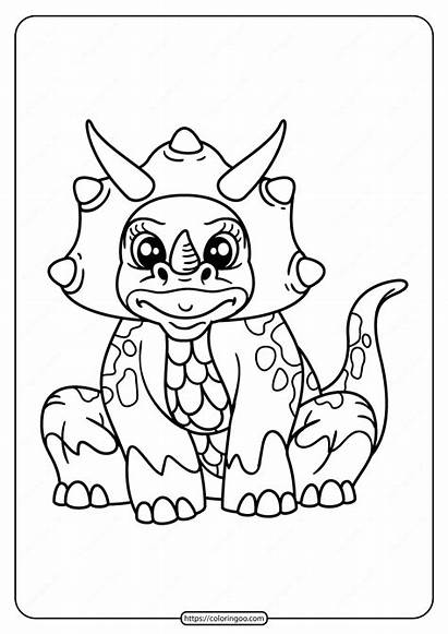 Coloring Printable Animals Dinosaur