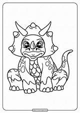 Coloring Printable Dinosaur Animals sketch template