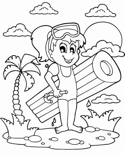 Coloring Summer Pages Holiday Mattress Children Topcoloringpages
