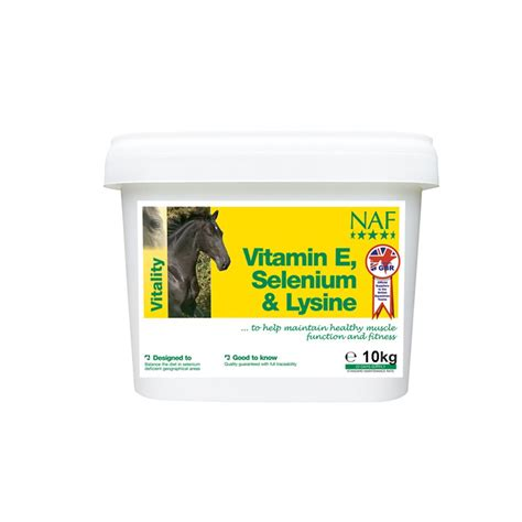 naf vitamin  selenium lysine horse supplement kg feedem
