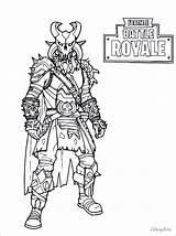 Fortnite Coloring Pages King Ice Battle Royale Drift Raven Print Printable Skins Cars Bomber Night Carbide Brite sketch template
