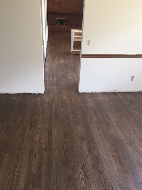 mix jacobean  graphite stain red oak