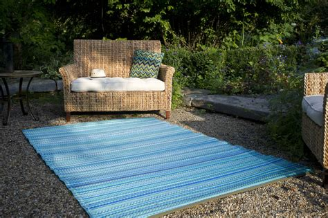 Flohe Im Teppich Garten Im Quadrat Outdoor Teppich Cancun Streifen Blau