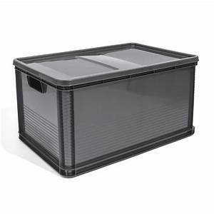 Box Mit Deckel : 64l lagerkiste euro box stapelbox transportbox mit deckel geschlossene obstbox ebay ~ Orissabook.com Haus und Dekorationen