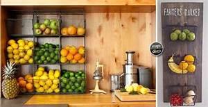 Rangement Fruits Et Légumes : rangement fruits et l gumes dans une petite cuisine 18 id es inspirantes deco hanging ~ Melissatoandfro.com Idées de Décoration