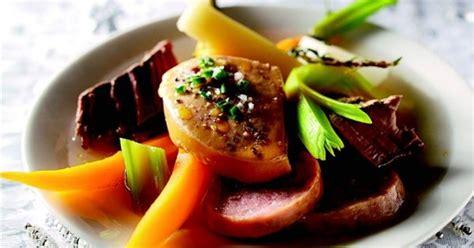 pot au feu de foie gras recette pot au feu de no 235 l au foie gras