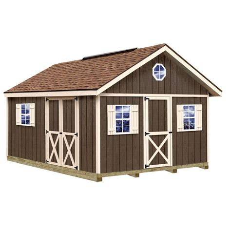 12x16 Shed Kit With Floor by Best Barns Fairview 12x16 Wood Shed Free Shipping