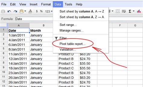 excel spreadsheet pivot table google spreadsheets pivot tables