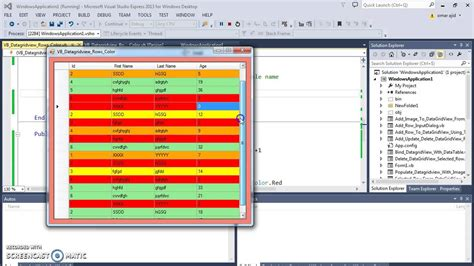 vb colors vb net how to set color to datagridview rows in vbnet