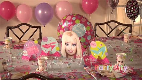 barbie birthday party ideas youtube