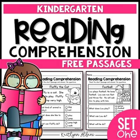 Kindergarten Reading Comprehension Passages  Set 1 Freebie By Kaitlynn Albani
