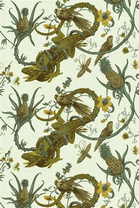 timorous beasties fabric iguana fabric