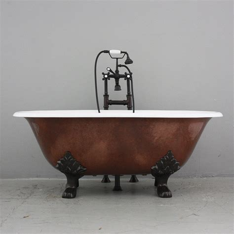 copper claw foot tub croyland 61 quot cast iron ended tub package with