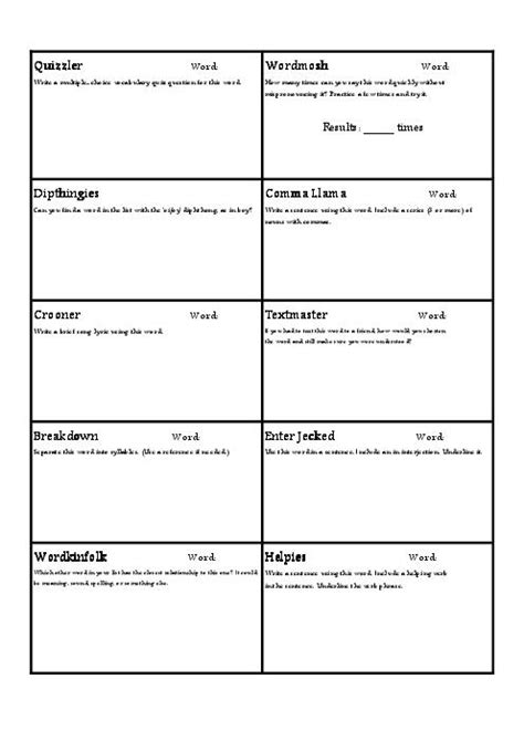 vocabulary worksheet template worksheets for all