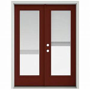 jeld wen 60 in x 80 in mesa red prehung right hand With 60x80 french doors