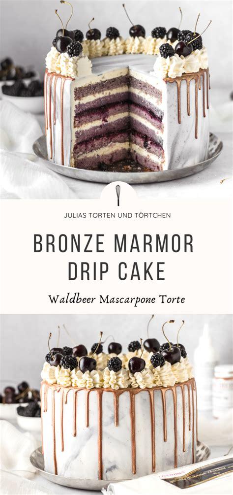bronze marmor drip cake rezept julias torten und toertchen