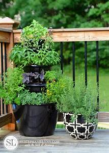Herb Garden Planter  diy vertical herb garden and planter