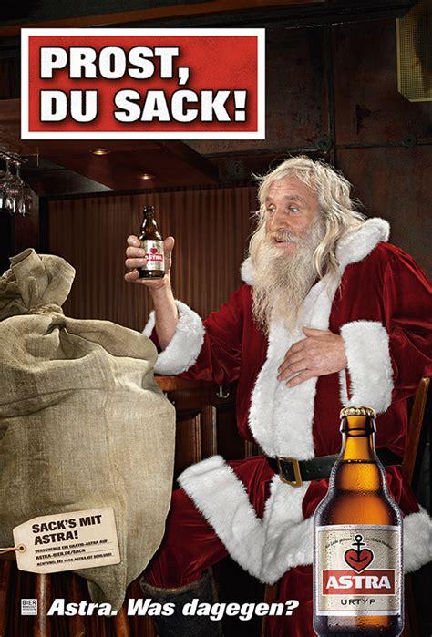 prost du sack astra stoesst auf weihnachten
