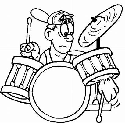 Coloring Pages Drum Drums Drummer Rock Roll