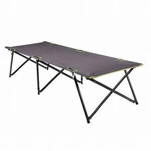 Lit De Camping : lit de camp pliable l100 gris decathlon ~ Teatrodelosmanantiales.com Idées de Décoration