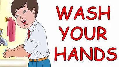 Wash Hands Animated Nursery Rhyme English