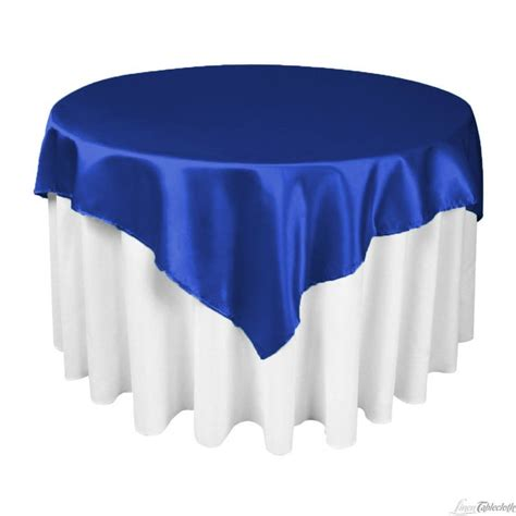 royal blue table linens 60 in square satin overlay royal blue satin blue satin