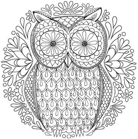 owl nature mandala coloring page inkleur