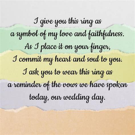 wedding ring exchange script exchange of wedding rings wording jewelry ideas