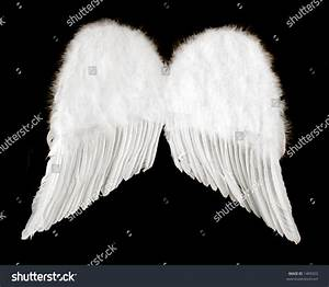 Guardian Angel Wings Isolated On Black Stock Photo 1409323 ...