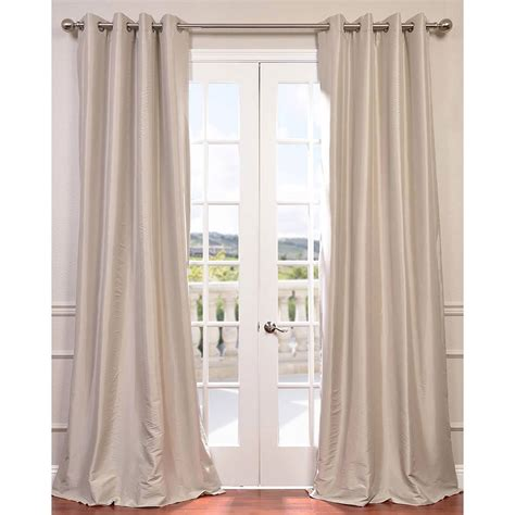 108 Inch Grommet Blackout Curtains by Antique Beige 108 X 50 Inch Grommet Blackout Faux Silk