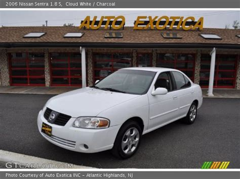 white nissan sentra 2006 cloud white 2006 nissan sentra 1 8 s charcoal interior