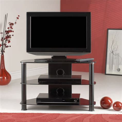 classic black tempered glass tv stand suit