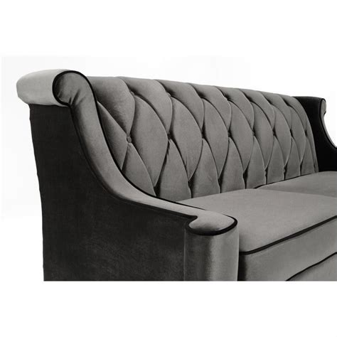Armen Living Barrister Sofa Caramel Velvet by Armen Living Barrister Velvet Sofa In Gray Lc8443gray