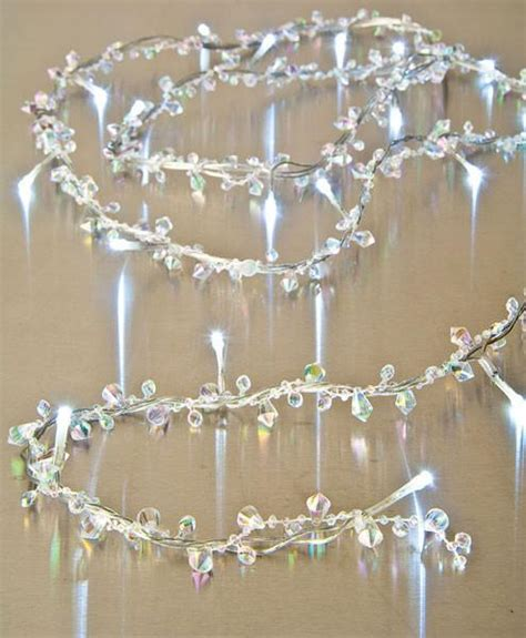 clear crystal led light garland 6 foot clear bendable wire beaded garland that bohemian