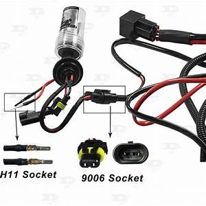 Set H3 H7 H11 9005 9006 Hid Conversion Kit Battery Relay