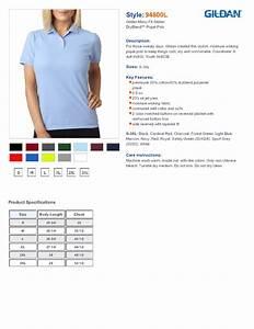 Gildan 94800l Ladies Dryblend Pique Sport Shirt 7 14